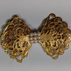 Jewelry - Vintage Gold Seed Pearl Victorian Revival Brooch
